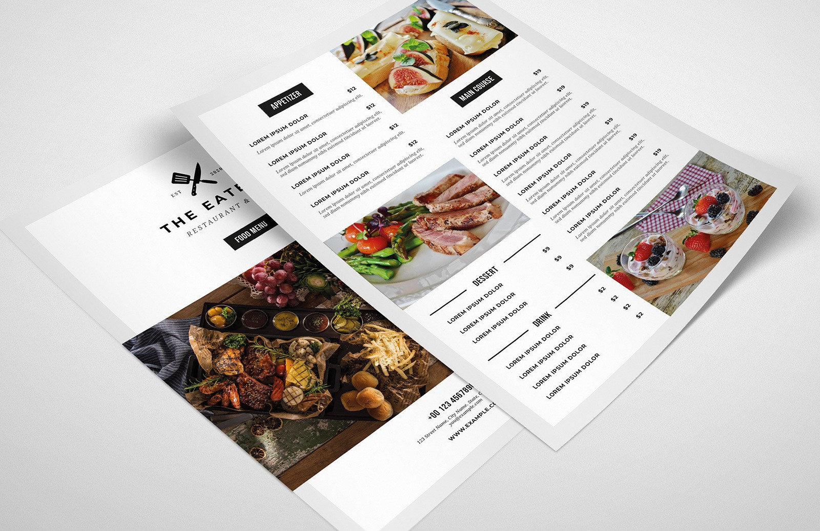 Minimal Food Menu Template Preview 1