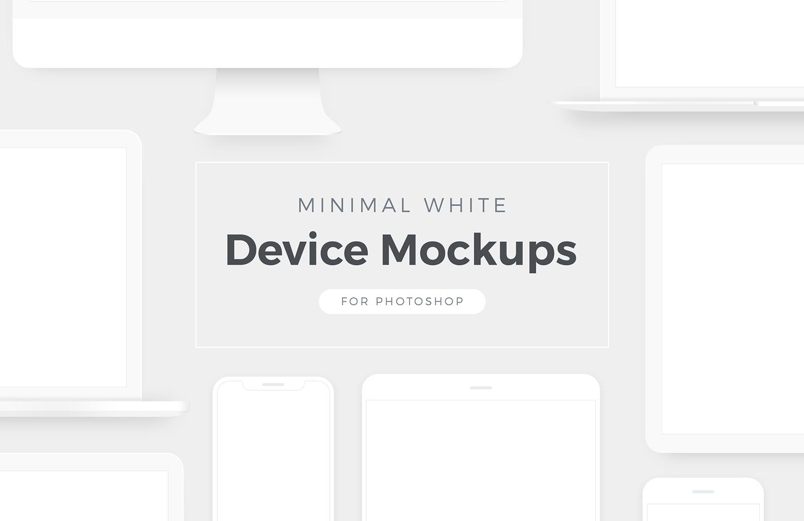 Minimal White Device Mockups Preview 1