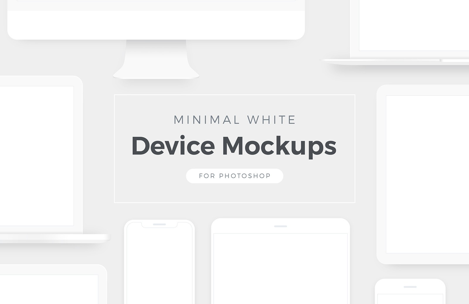 Minimal White Device Mockups Preview 1