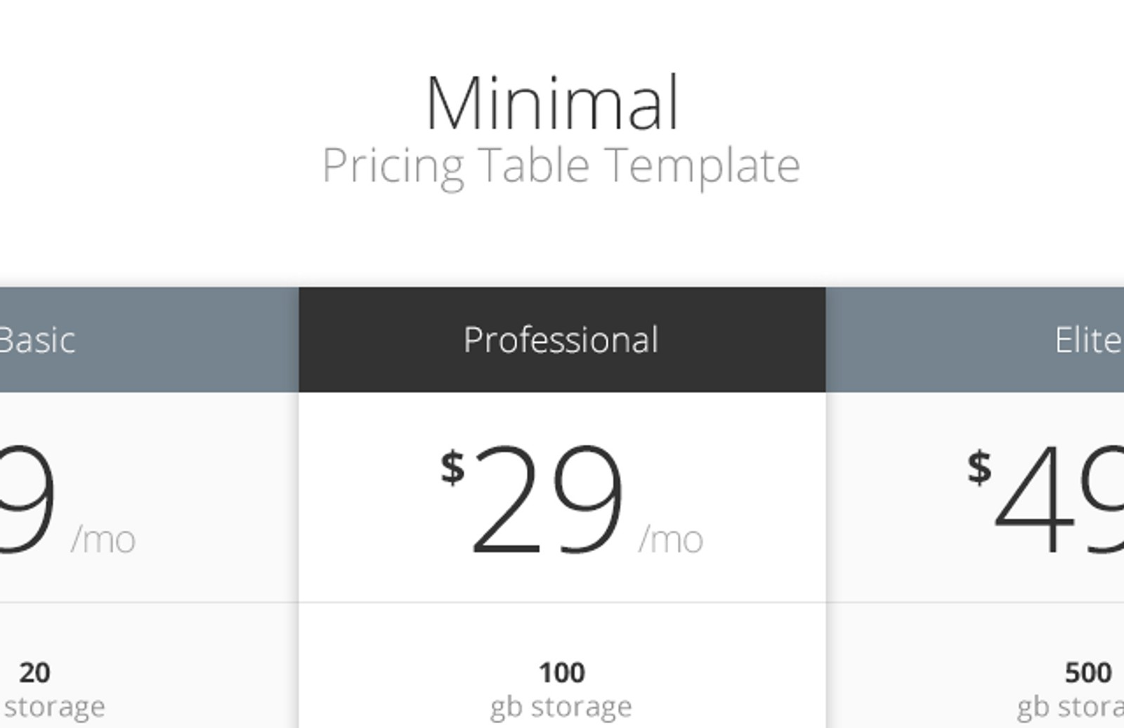 Minimal  Pricing  Table  Preview1