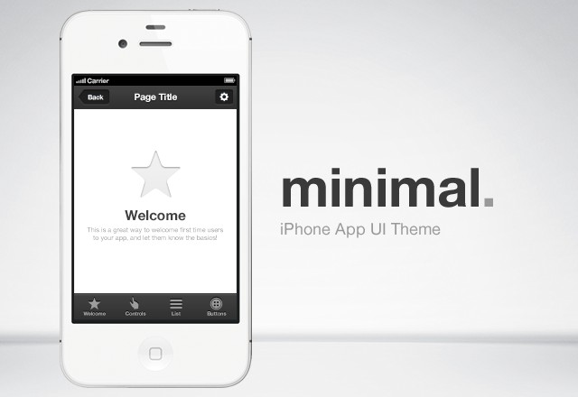 Minimal iPhone App UI Theme