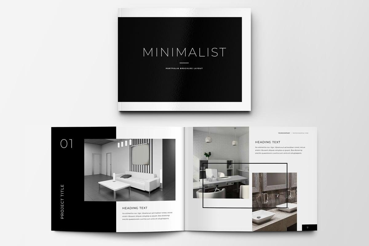 Minimalist Portfolio Brochure Layout Medialoot