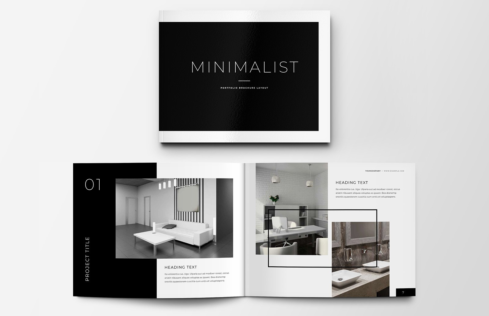 Minimalist Portfolio Brochure Layout Preview 1
