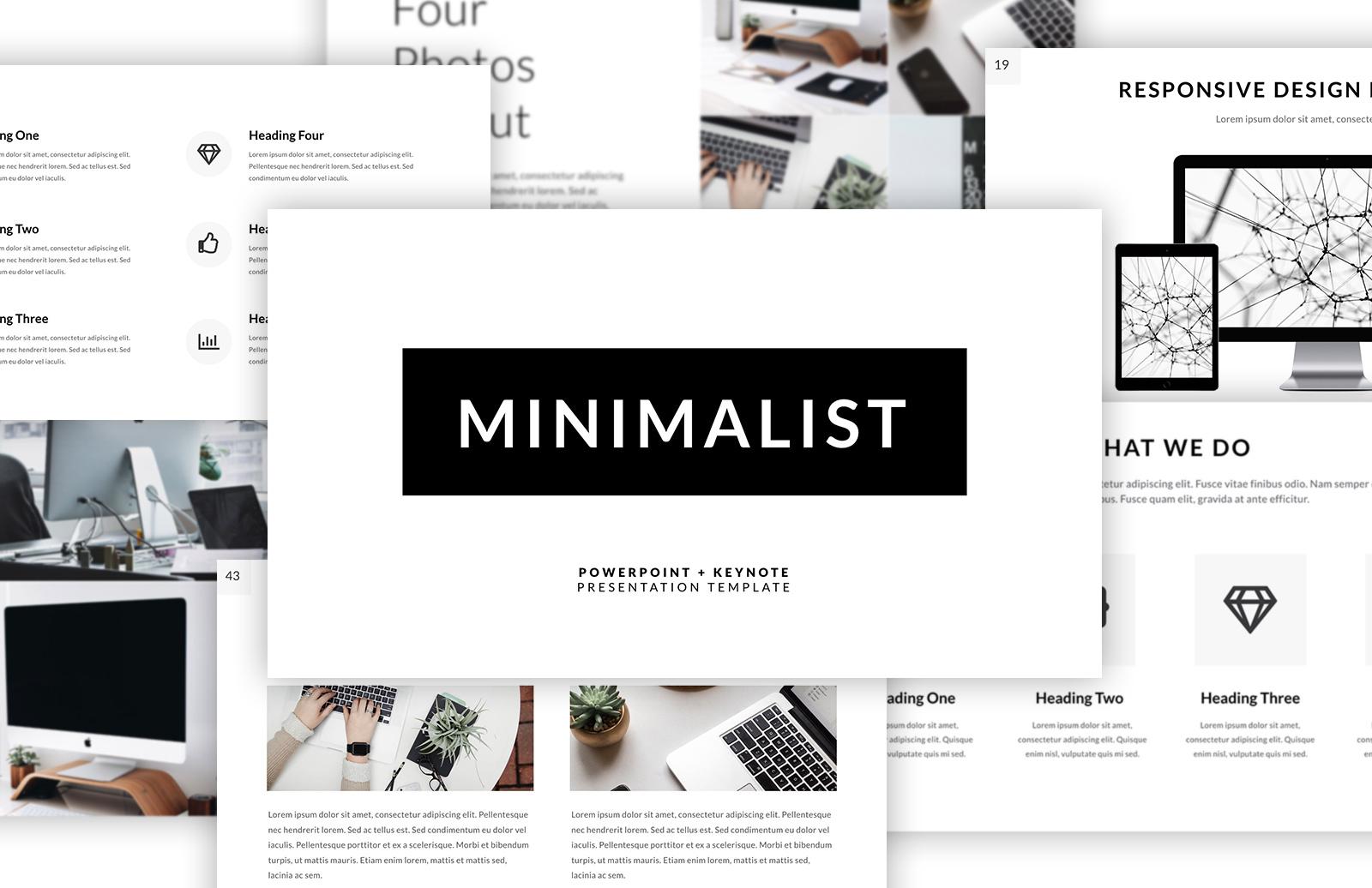 minimalist presentation template — medialoot, Presentation templates