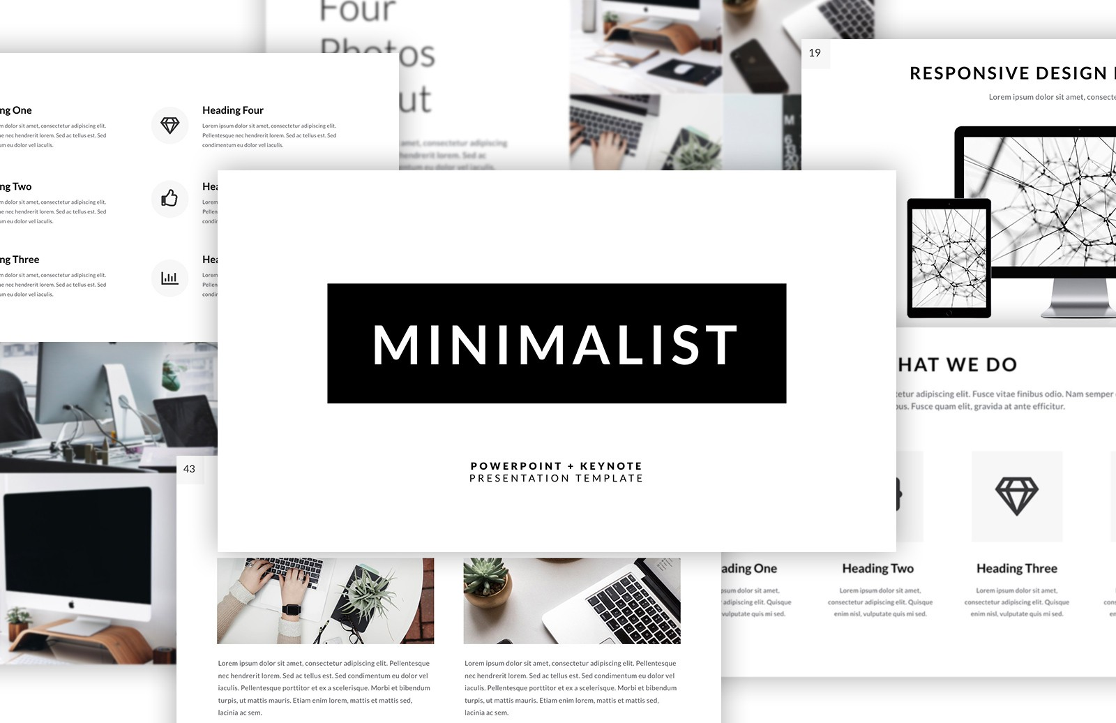 Minimalist Presentation Template Preview 1A