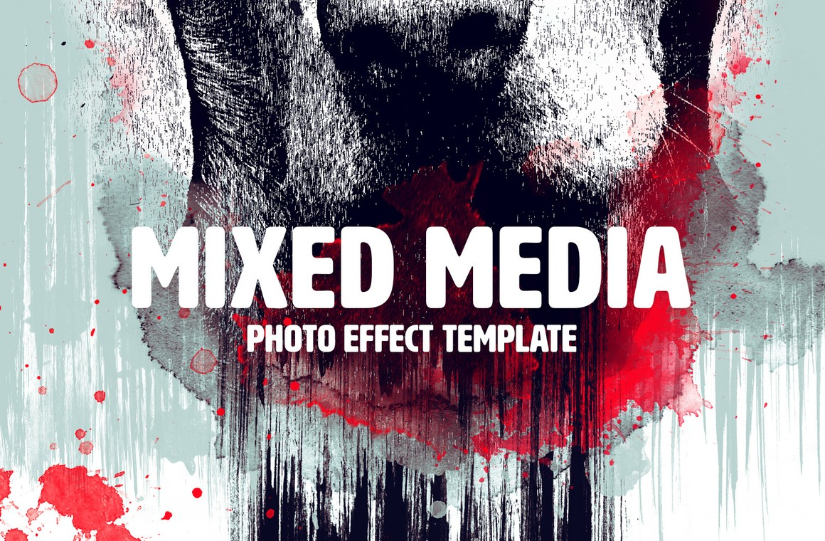 Mixed Media Photo Effect Template