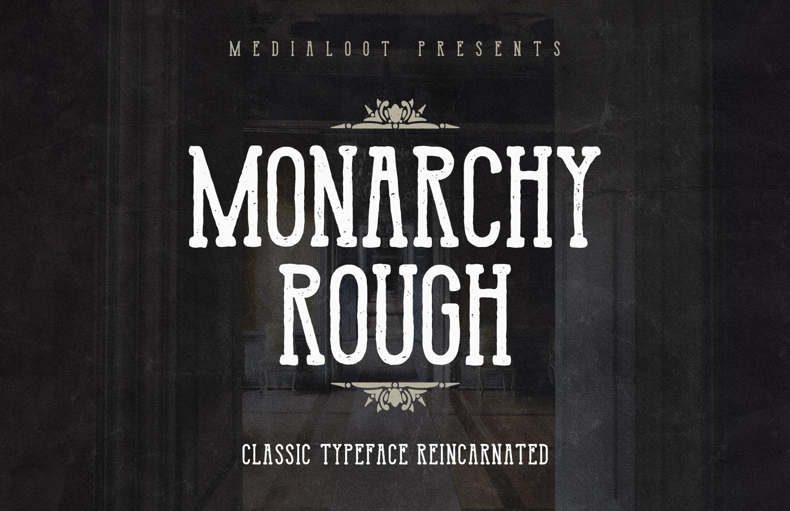 Monarchy Rough - Condensed Slab Serif 1
