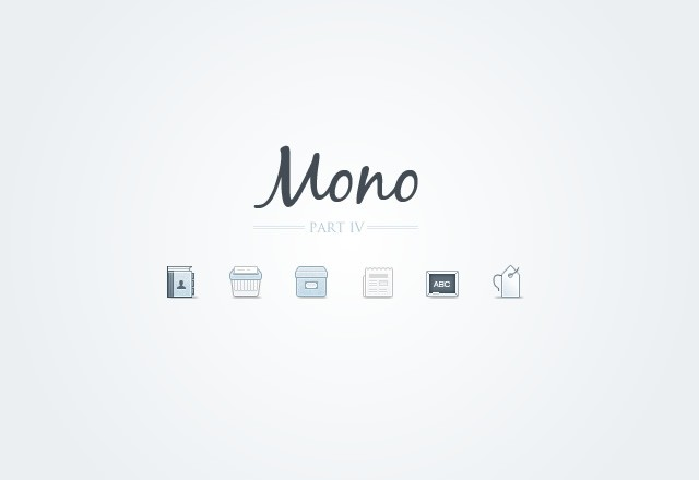 Mono  Icons    Part 4  Preview1