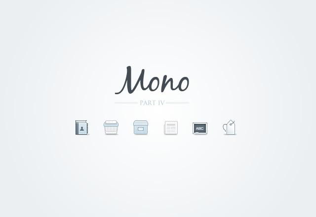 Mono Icons - Part 4