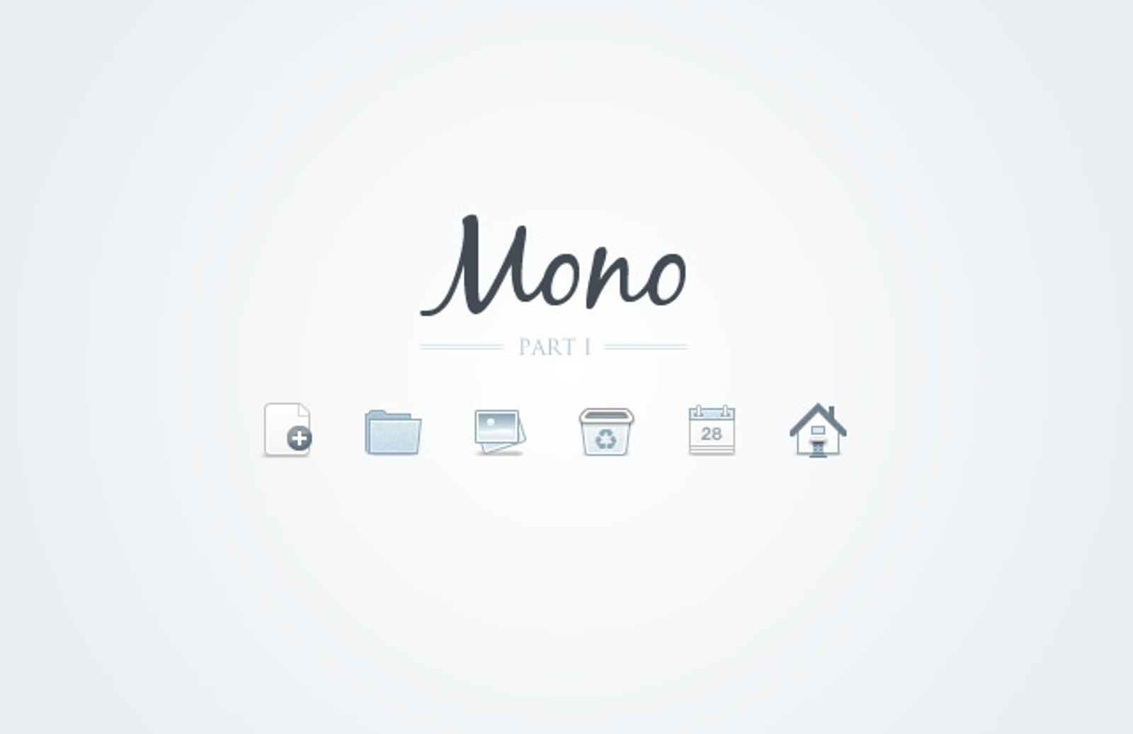 Mono  Icons    Part 1  Preview1