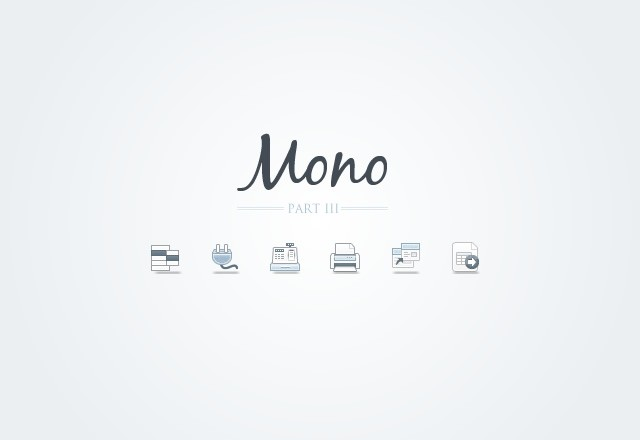Mono  Icons    Part 3  Preview1