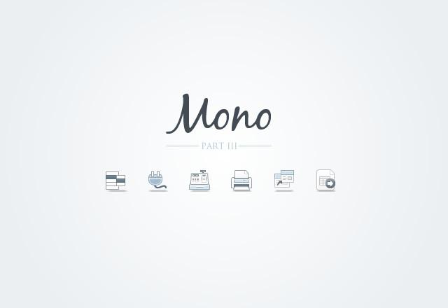 Mono Icons - Part 3