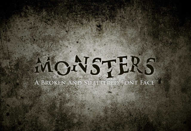 Monsters Desktop & Web Font