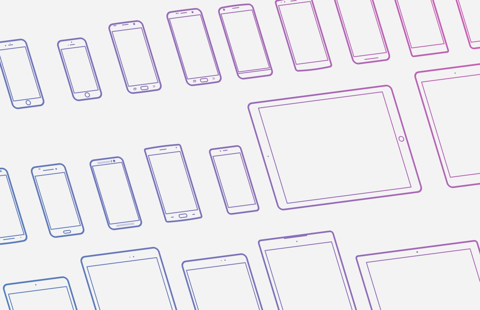 Mobile Device Vector Icons (New Devices)