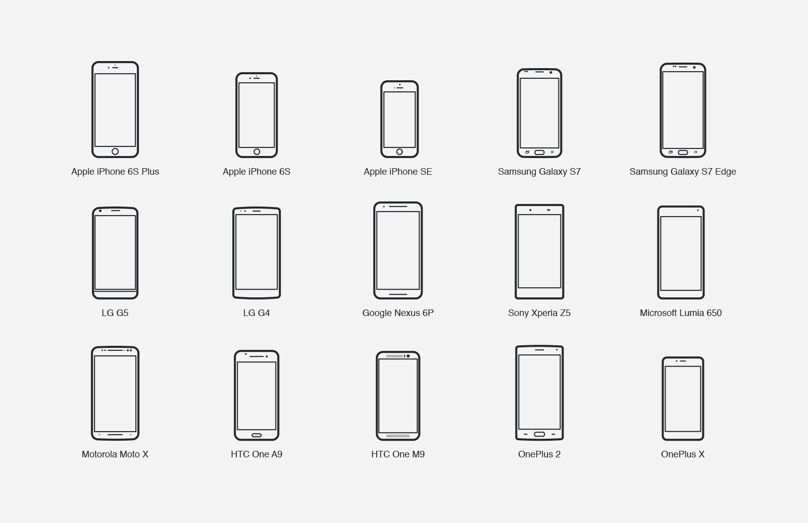 Large Mobile  Device  Vector  Icons 2  Preview 2