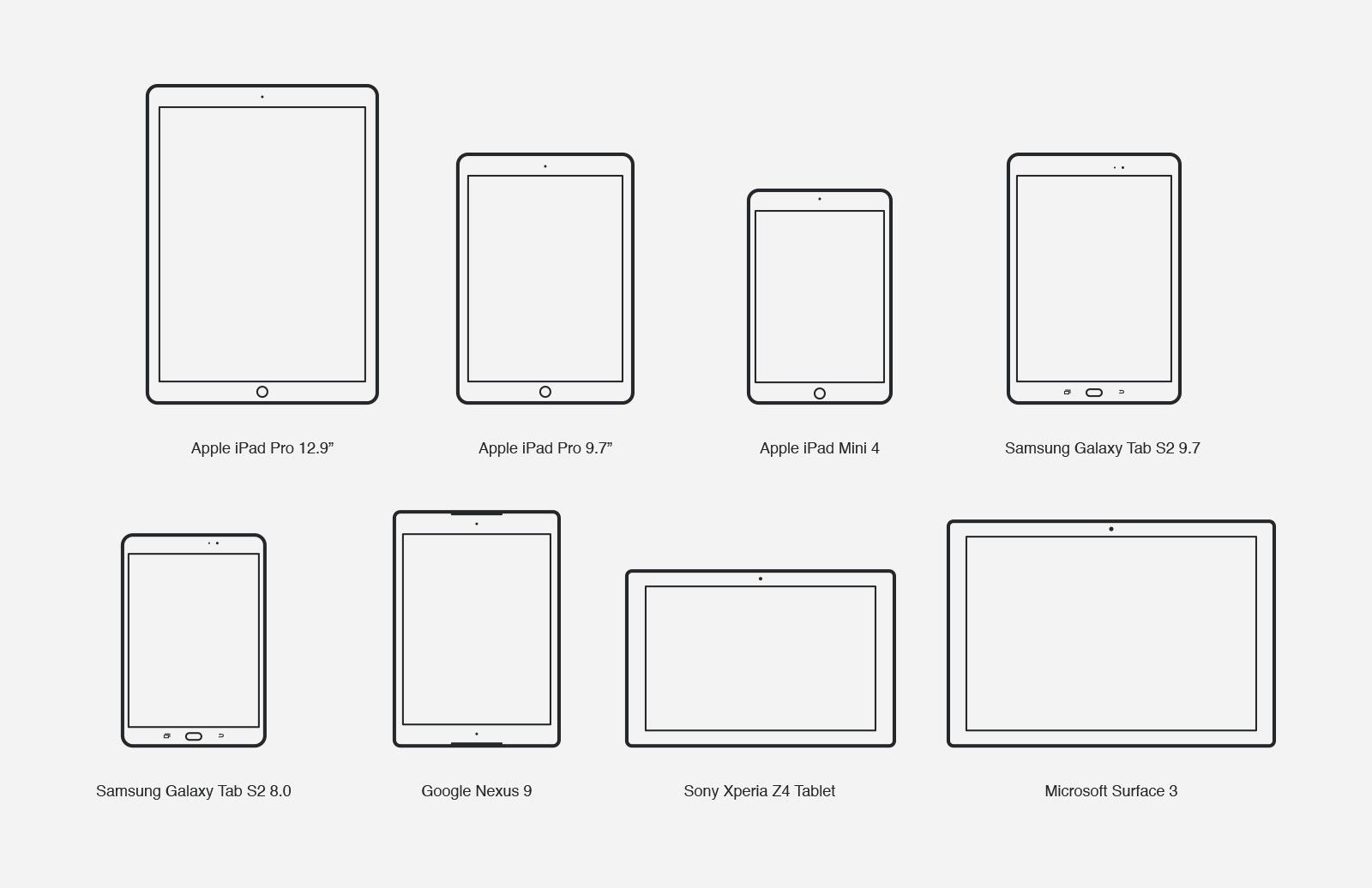 Large Mobile  Device  Vector  Icons 2  Preview 3