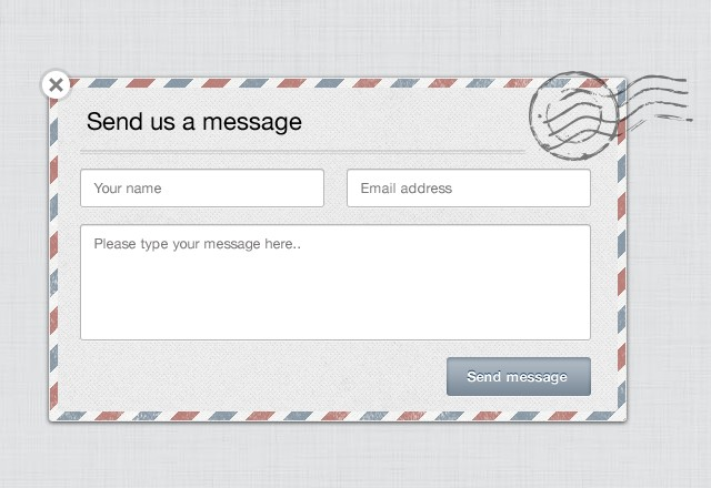 Large Modal  Contact  Form  Preview1
