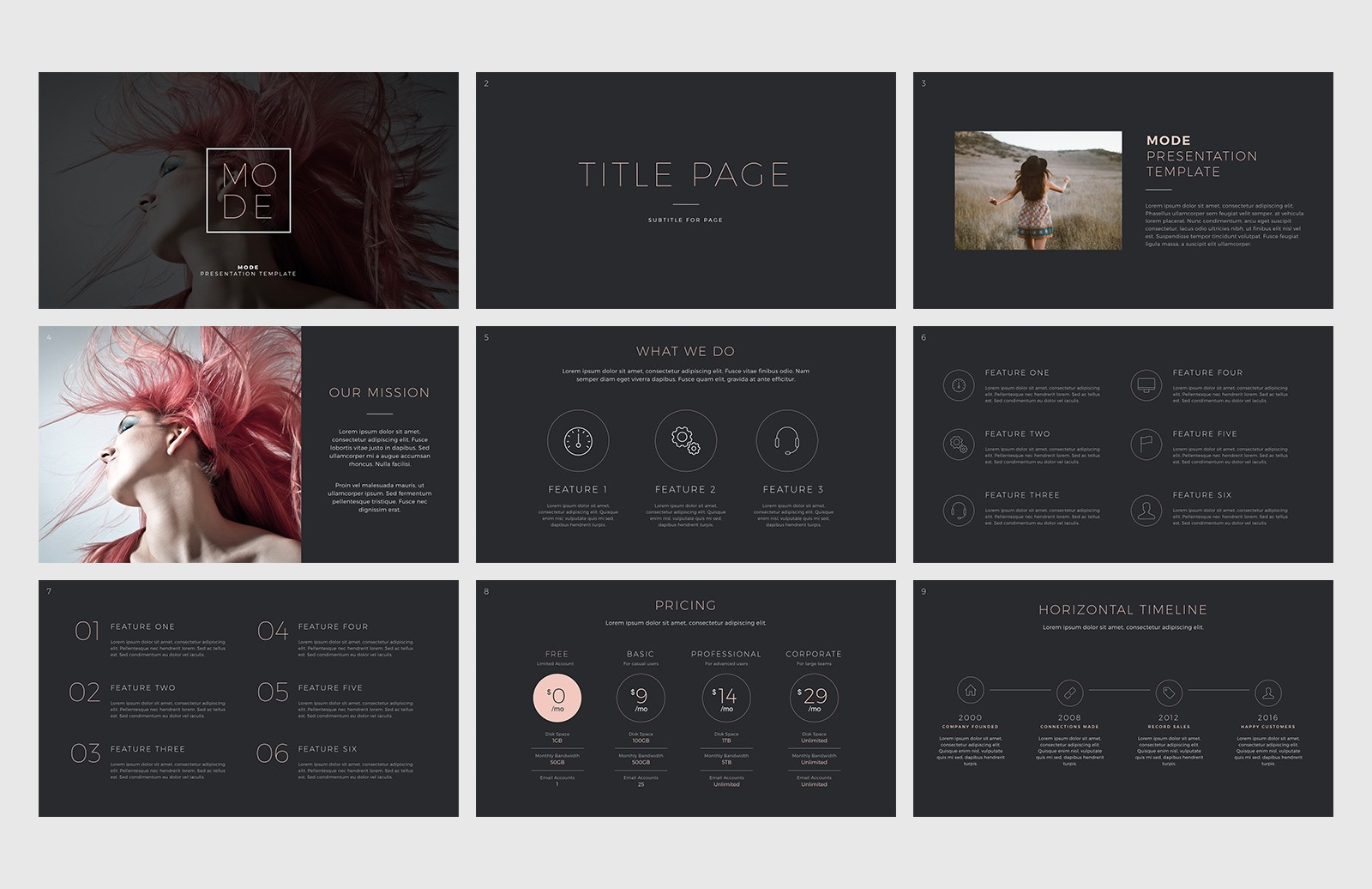 Mode Keynote Presentation Template