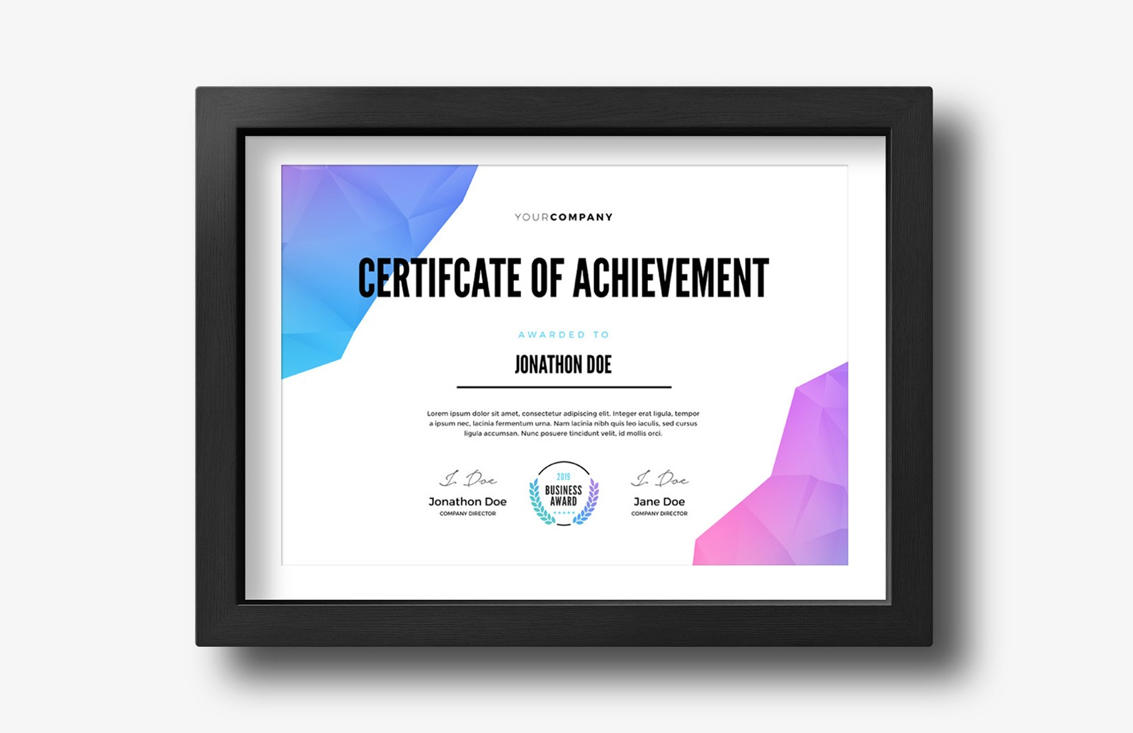 Modern Certificate Of Achievement Template Preview 2 1
