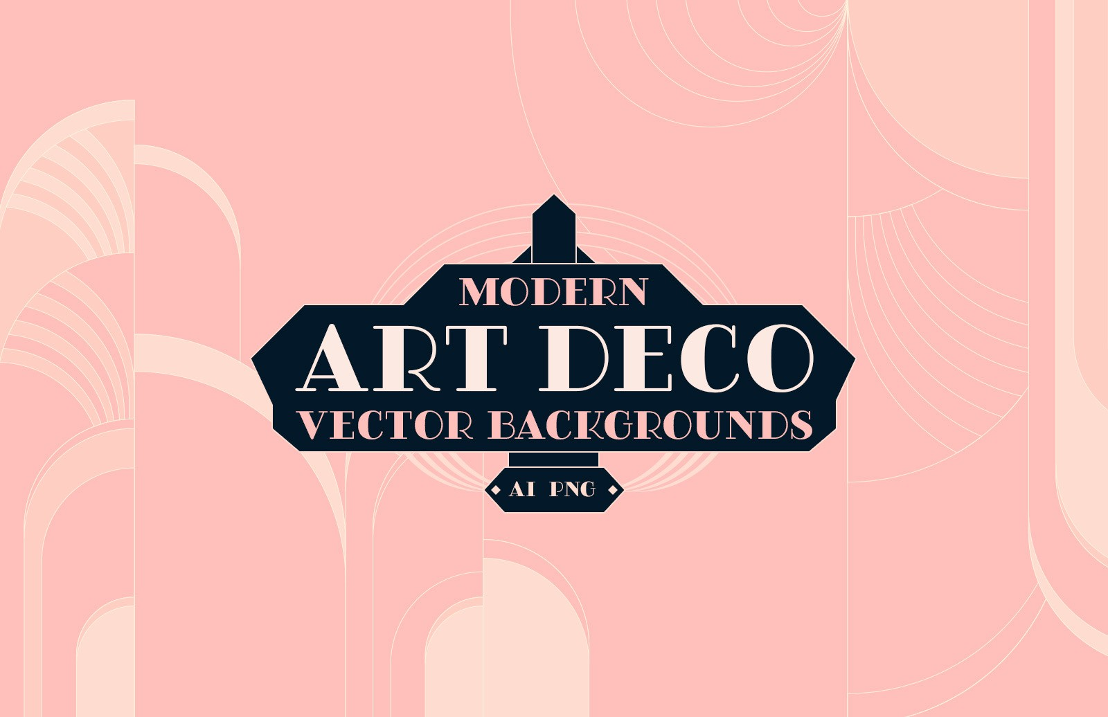 Modern Art Deco Vector Backgrounds Preview 1
