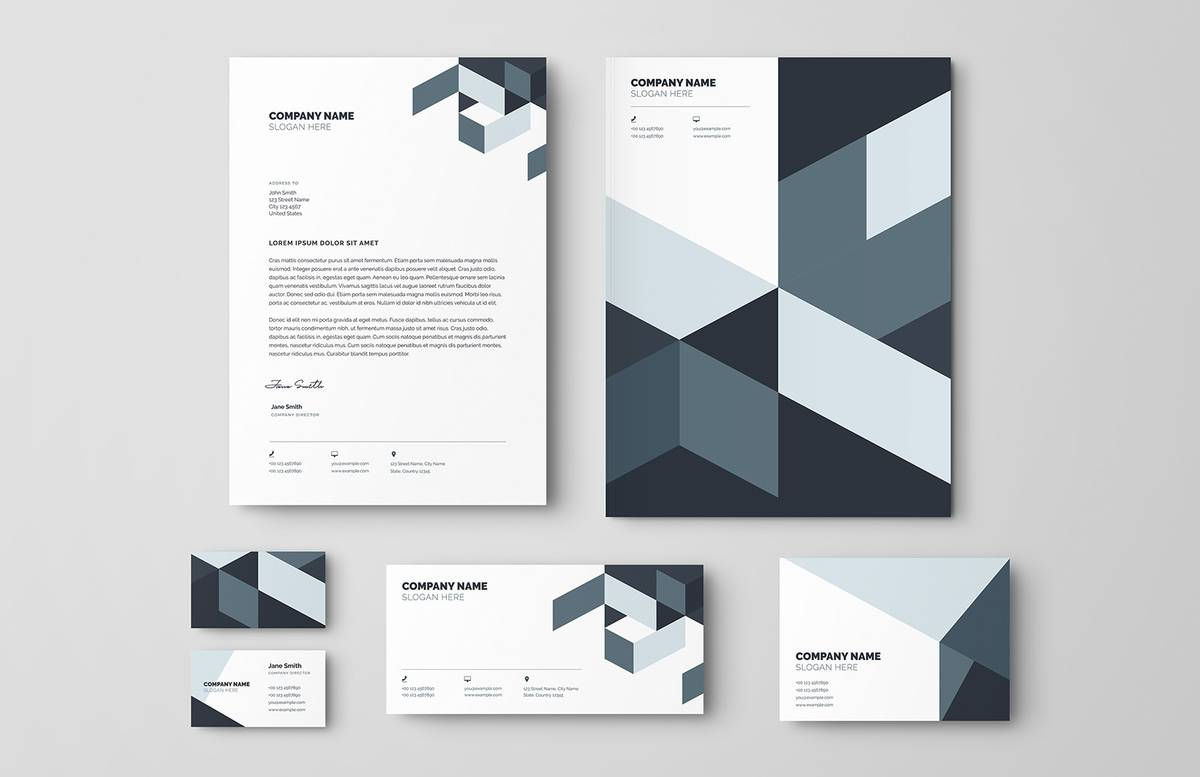 Modern Business Stationery Set Preview 1