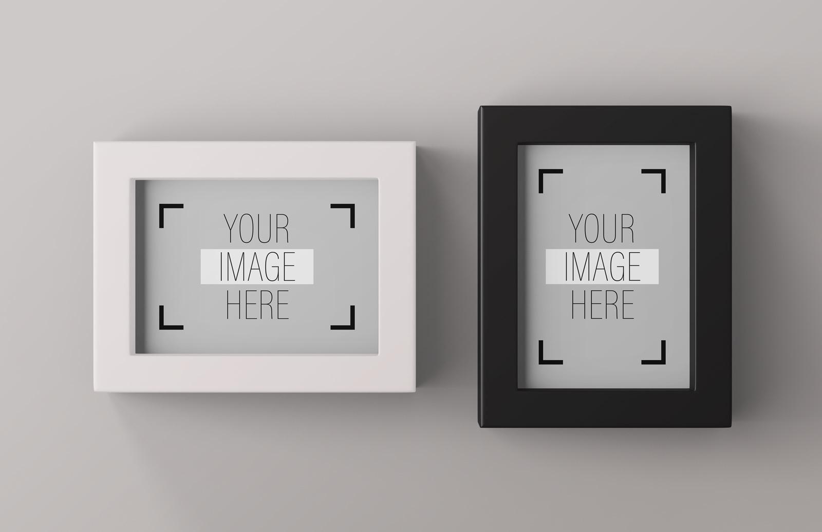Modern Desktop Picture Frames Mockup Preview 1