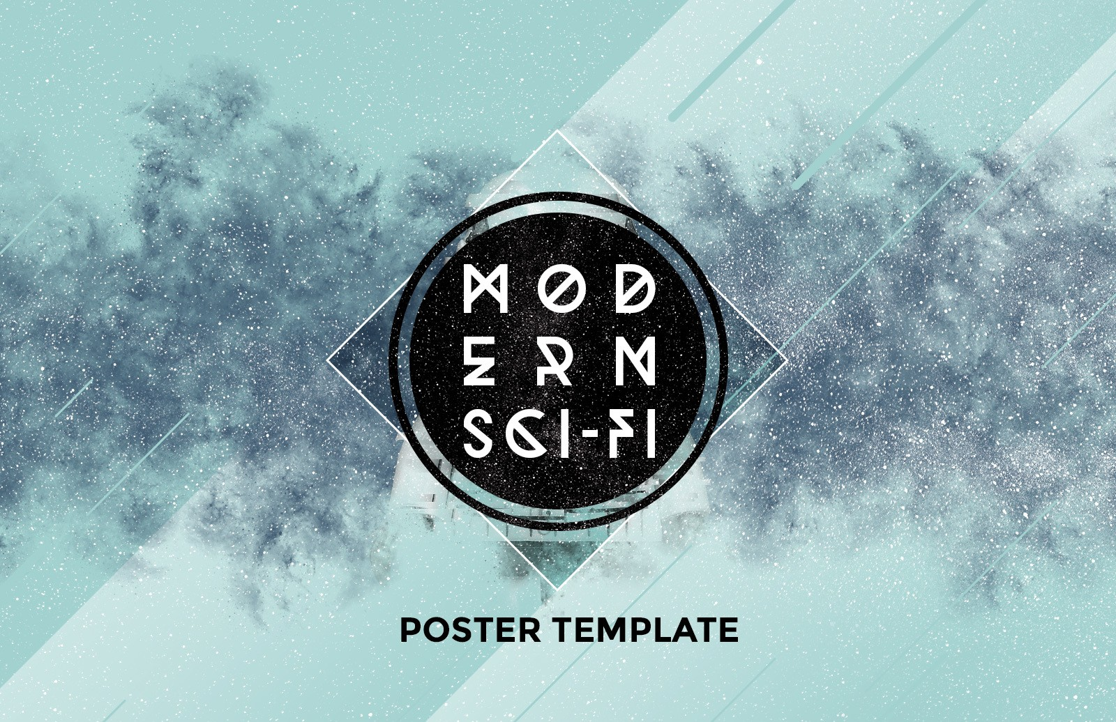 Modern Scifi Poster Template Preview 1