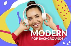 Modern Pop Backgrounds Templates