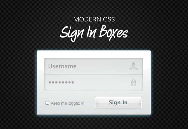 Modern CSS Sign In Boxes