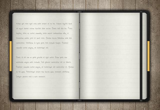 Vector Notebook Mockup