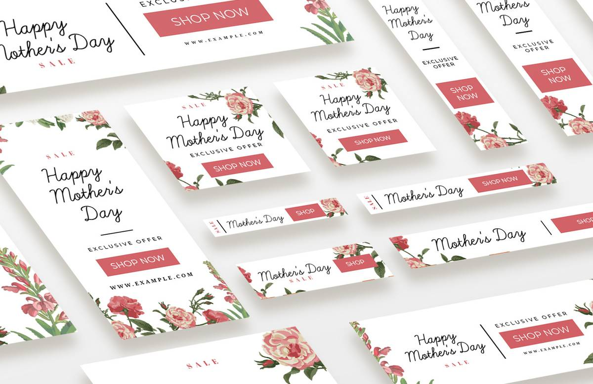 Mothers Day Web Banners Social Media Pack Preview 1