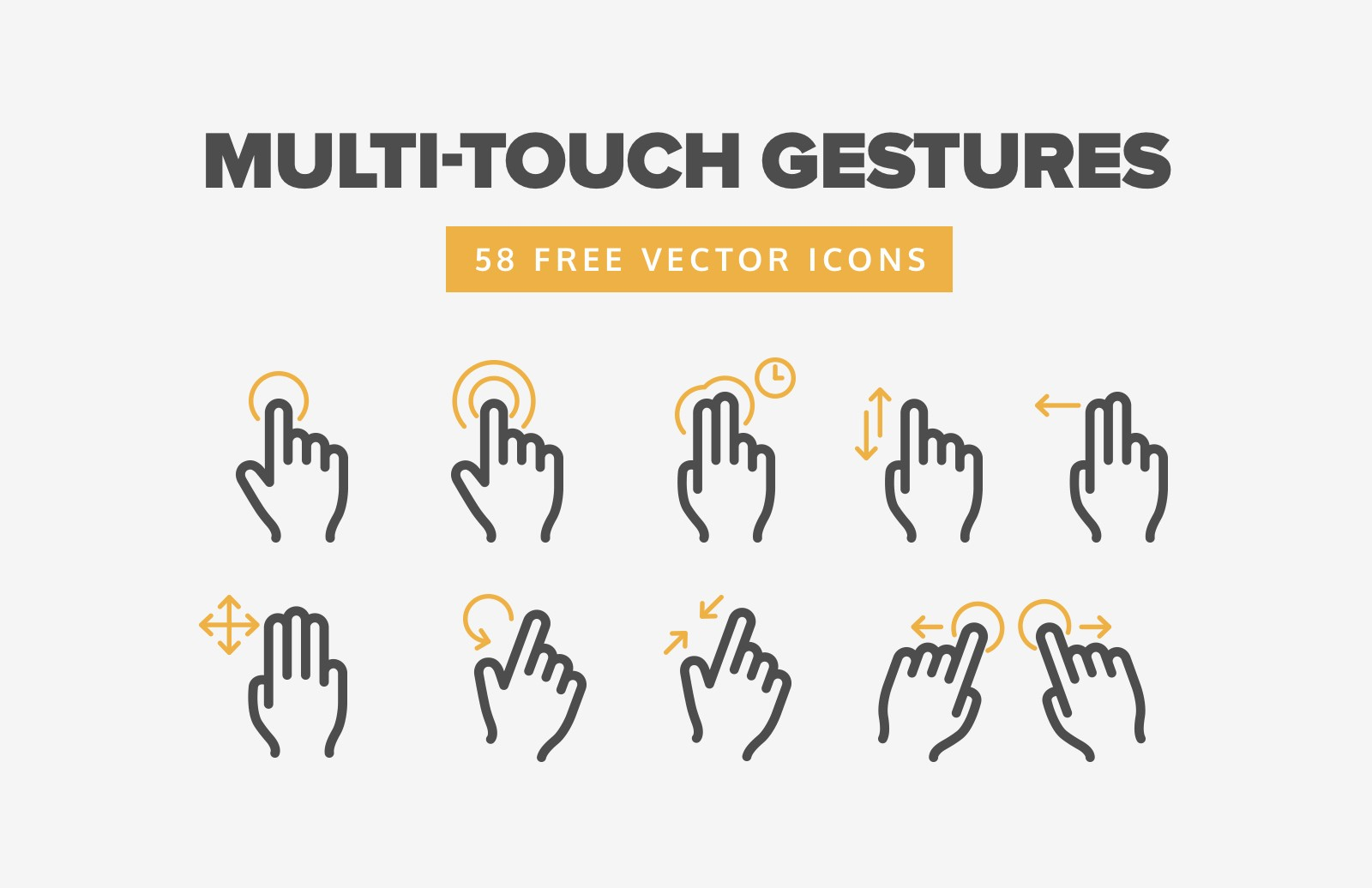 Large Multi Touch  Gesture  Icons  Preview 1