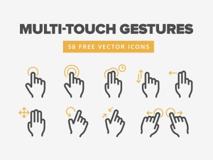 Multi-Touch Gesture Icons 1