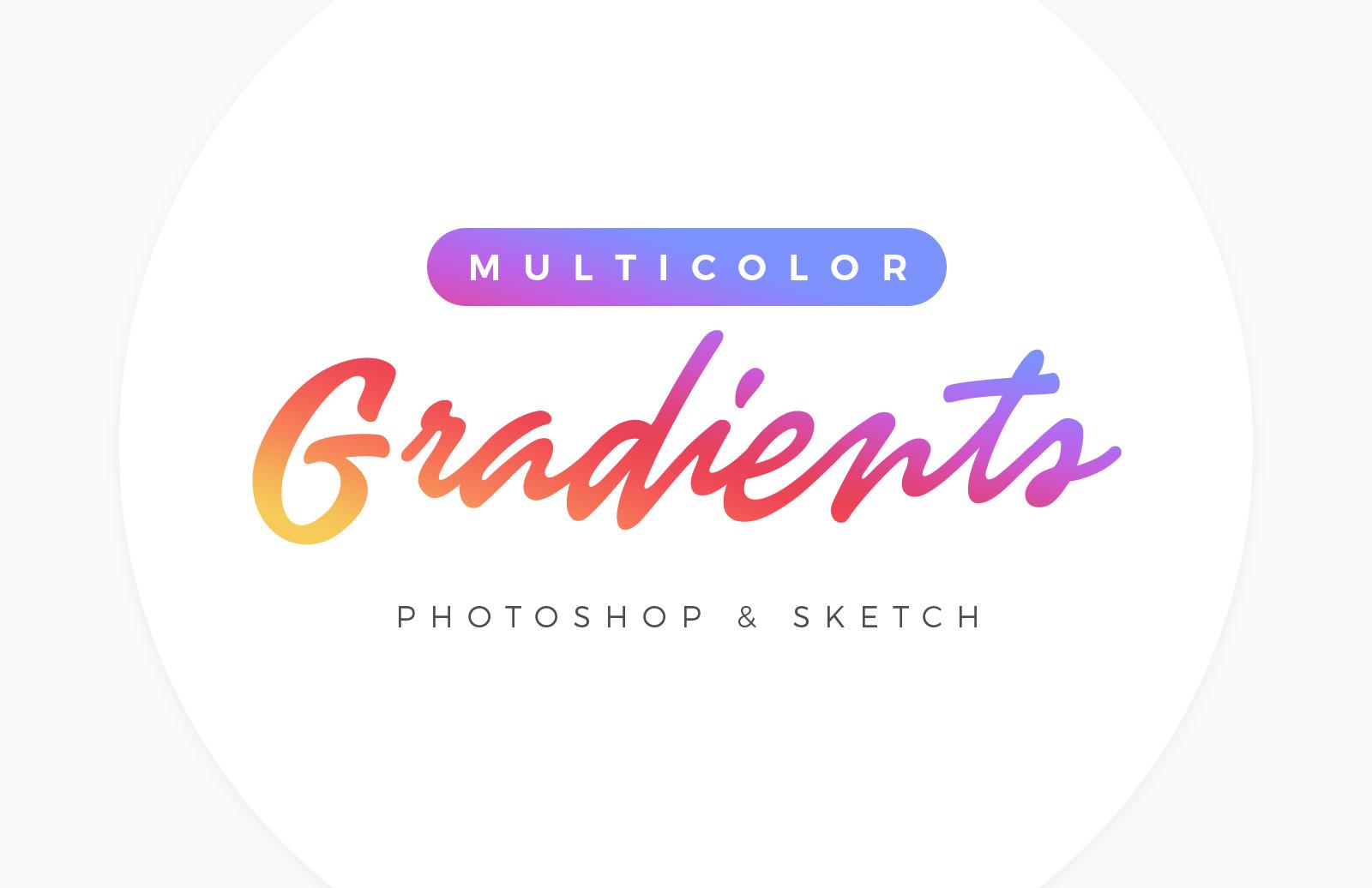 Cool Multicolor Gradients for Photoshop & Sketch