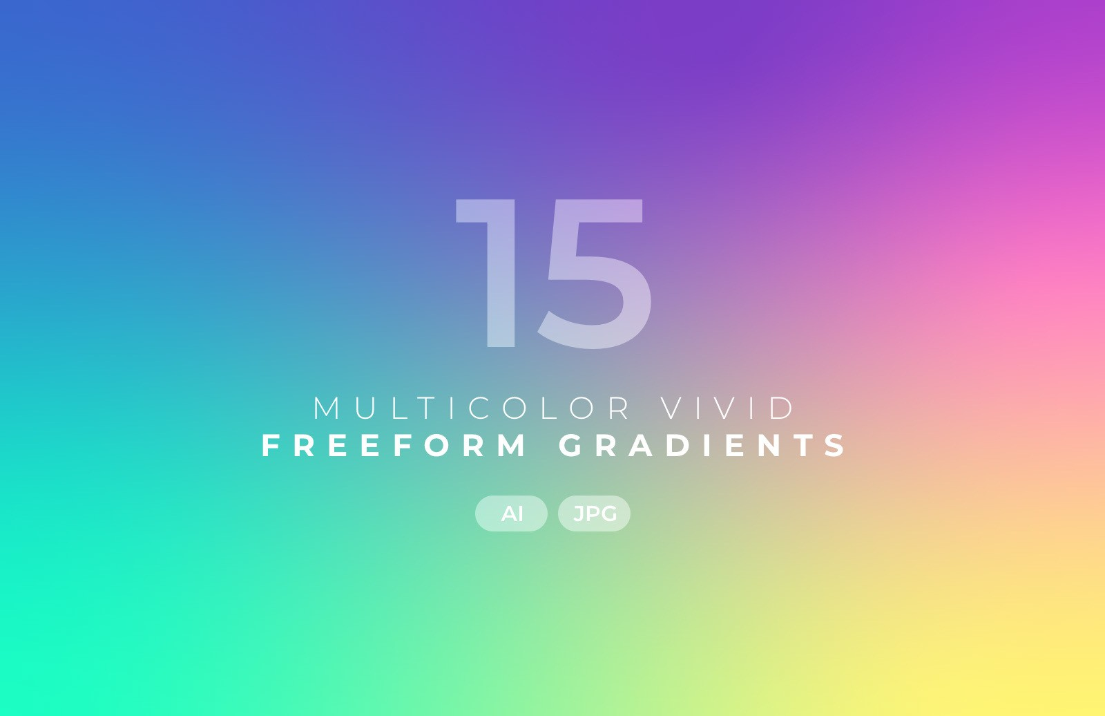 Multicolor Vivid Freeform Gradients Preview 2