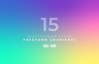 Multicolor Vivid Freeform Gradients