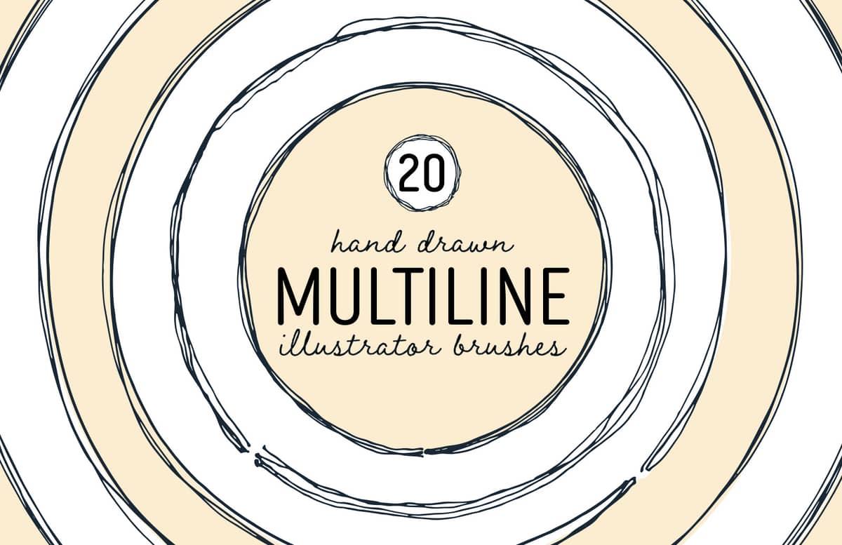 Multiline Illustrator Brushes Preview 1