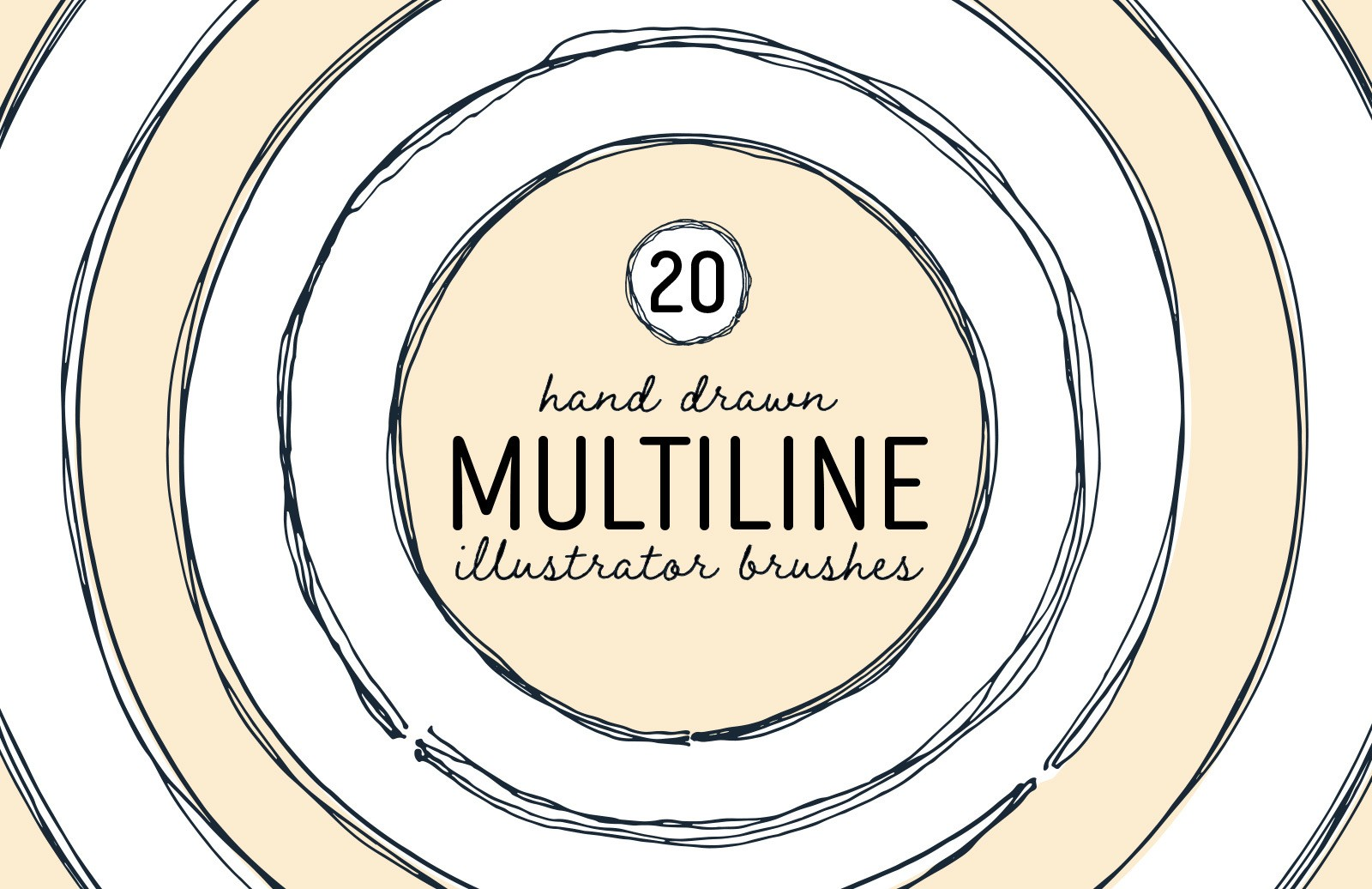 Multiline Illustrator Brushes Preview 1