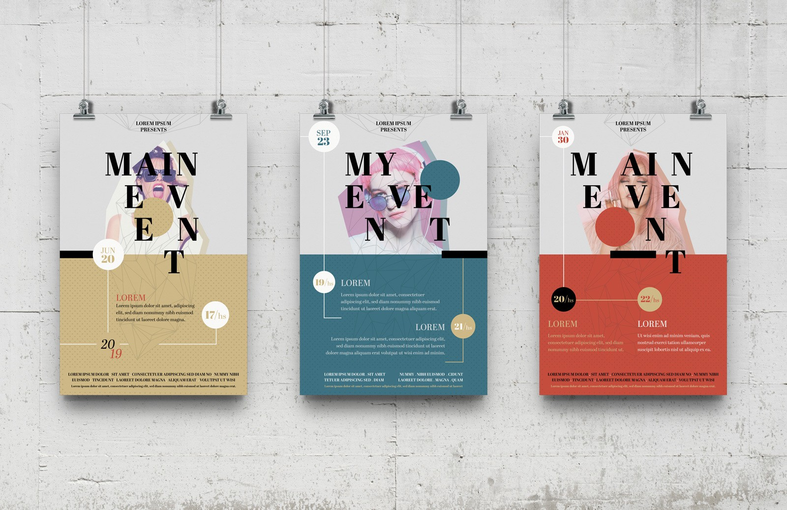 Multipurpose Event Poster Templates Preview 1