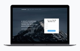 Multipurpose Landing Page Bootstrap Template