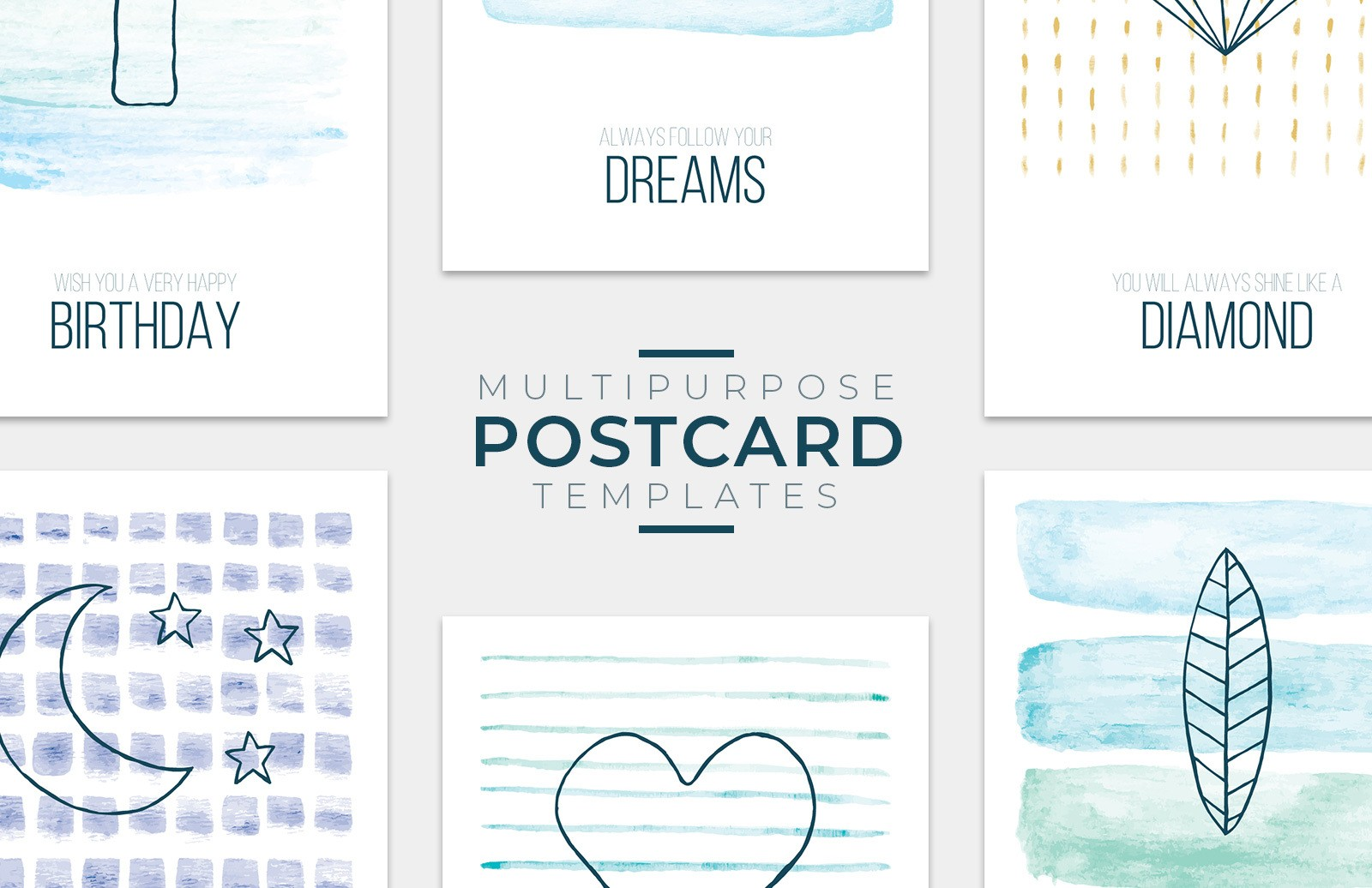 Multipurpose Postcard Templates Preview 1