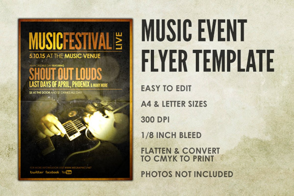 Music Event Flyer Template Medialoot