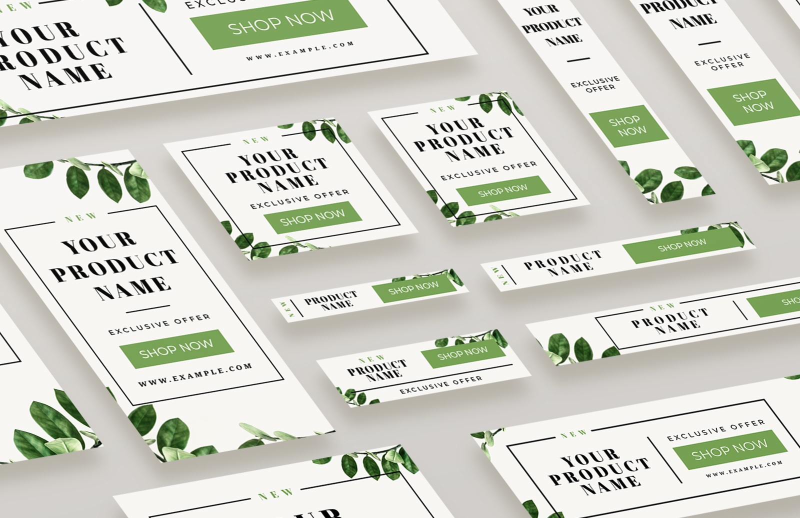 Natural Web Banners & Social Media Pack