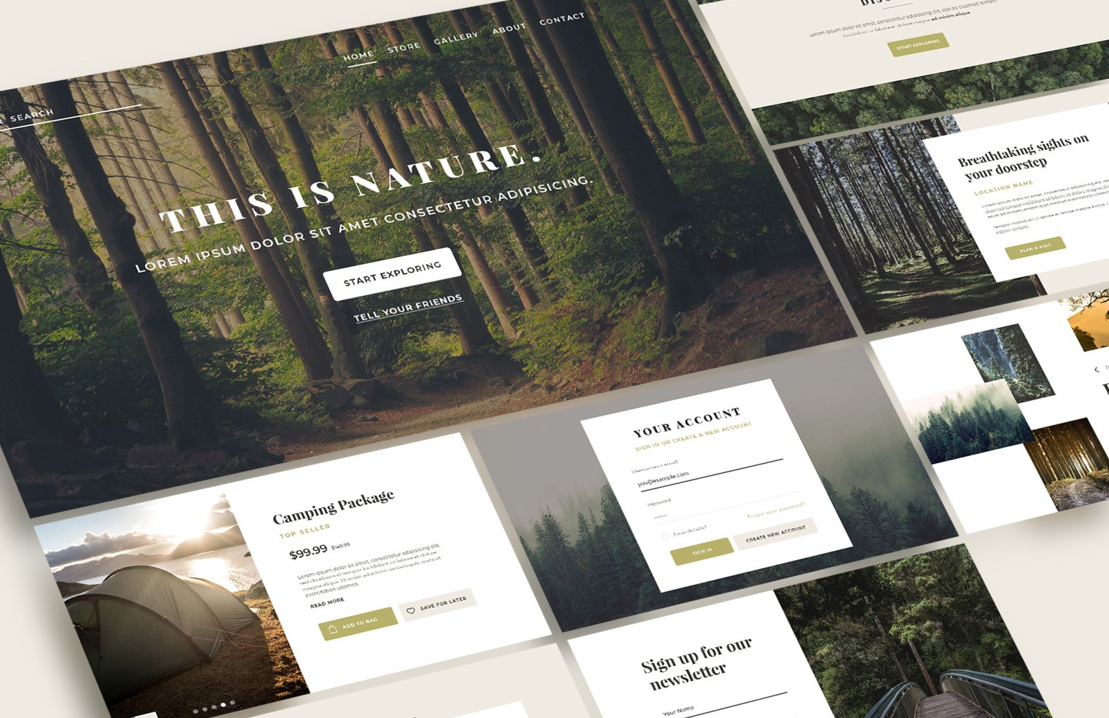 Nature Web Layouts Set Preview 1