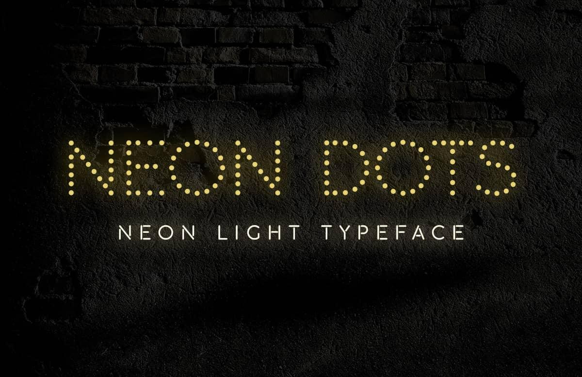 Neon Dots Font Preview 1B