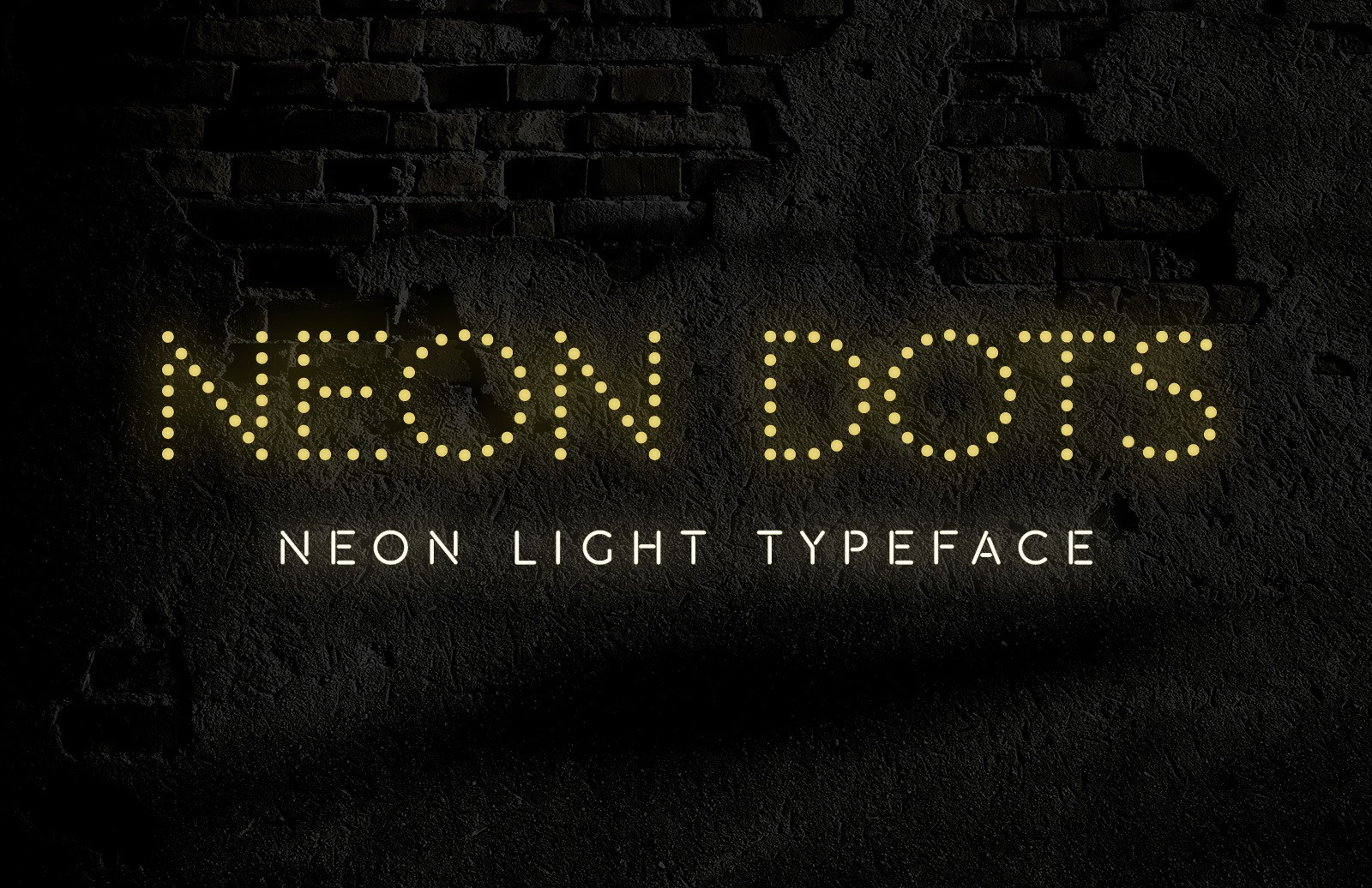 Neon Dots Font Preview 1B