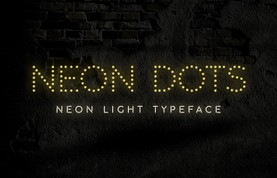 Neon Dots - Free Neon Sign Font