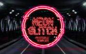 Neon Glitch Photoshop Template