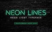 Neon Lines - Neon Sign Font
