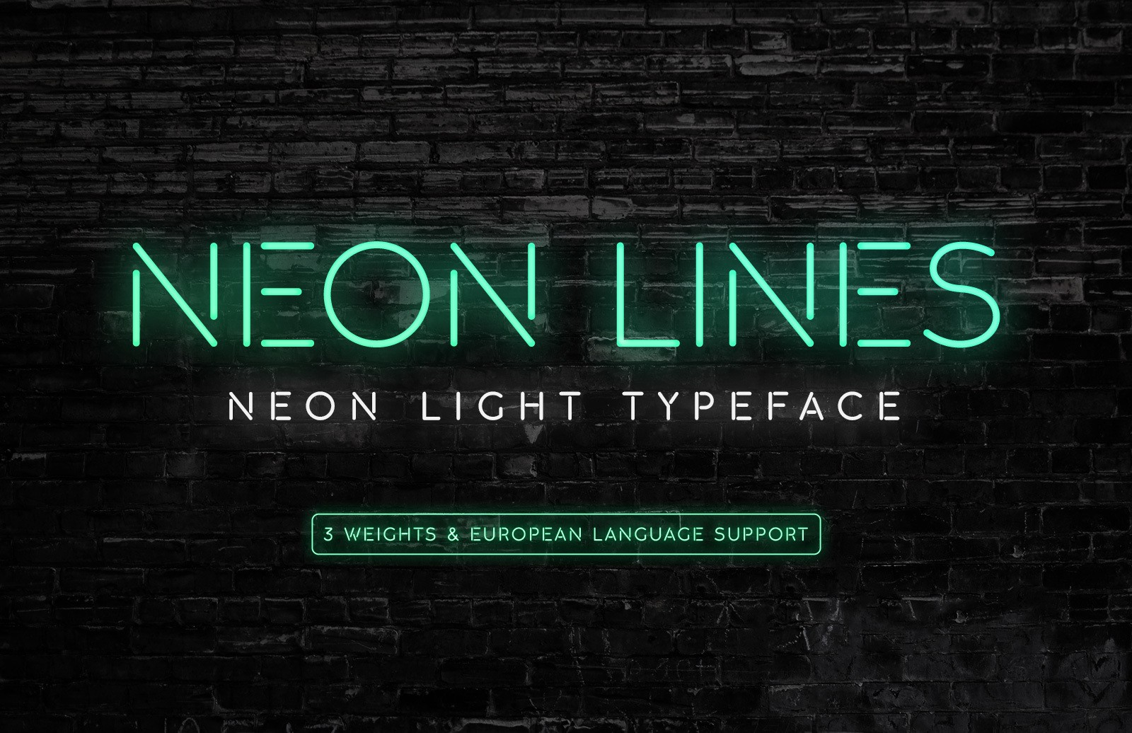Neon Lines Font Preview 1
